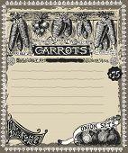 Greengrocer - Vintage Carrots Advertising