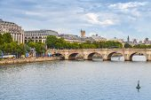 Pont Neuf. Oldest Bridge Across Seine River In Paris