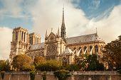 Notre Dame De Paris Cathedral, Vintage Toned Photo