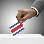 Black Male Holding Flag. Voting Concept - Costa Rica