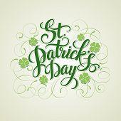 St. Patricks Day greeting. Vector illustration