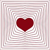 Abstract Line Heart Love Symbol White Background Eps10