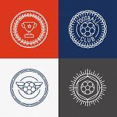 Vector Linear Football Badge And Emblems