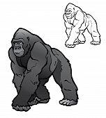 Vector plateada Gorilla.eps