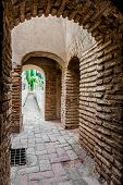 Inside Of Gibralfaro Fortress (alcazaba De Malaga). Malaga City. Spain