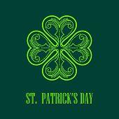 Vector Linear monogram Saint Patricks Day.