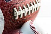 Football And Baseball Balls