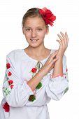 Cheerful Preteen Ukrainian Girl