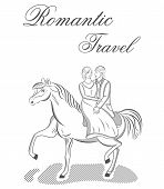 Vector illustration of romantic travel