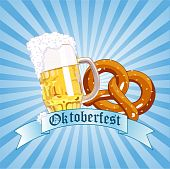 Oktoberfest Celebration Radial Background