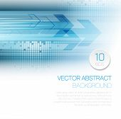 Vector abstract technology background with lines and arrow