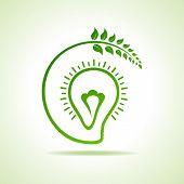 Vector Illustration of Eco bulb design