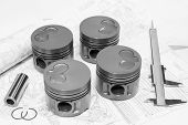 Car engine pistons