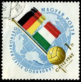 Vintage  Postage Stamp. World  Football Cup In Chile