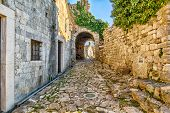 Ancient Arches In The Pathway To The Old Town Of Bar, Montenegro