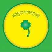 colorful background with shamrock and font