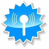 Connection blue icon