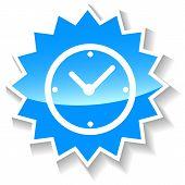 Clock blue icon