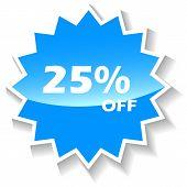Discount blue icon