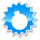 stock photo of bombshell  - Bomb web blue icon on a white background - JPG