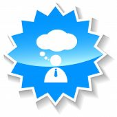 Conversation blue icon