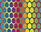 Easter Eggs Rainbow Gradient Seamless Pattern