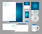 Corporate identity template with molecules
