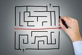 Hand Drawing Maze