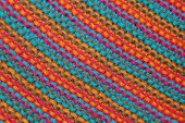 Knitted multicolored texture