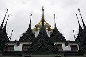 Royal Black Metal Temple In Thailand