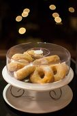 Mini Sugar Coated Doughnuts Piled
