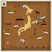 Japan Landmark Business And Travel Infographic