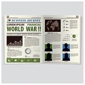 Business Journey Newspaper Lay Out