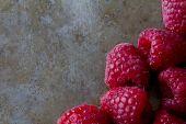 Raspberries on a Tray