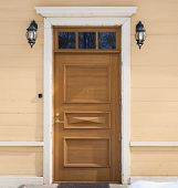 image of front-entry  - Outdoor photo of old house front door composition - JPG