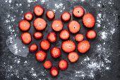 Heart Shape Sliced Strawberry