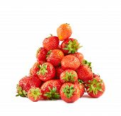 Strawberries pile heap isolated