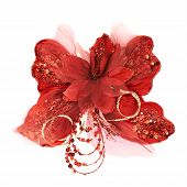 Red decorational synthetic butterfly