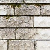 pic of fragmentation  - Grungy white limestone brick wall - JPG