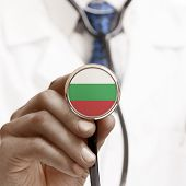 Stethoscope With National Flag Conceptual Series - Bulgaria