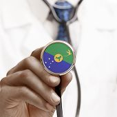 Stethoscope With National Flag Conceptual Series - Christmas Island