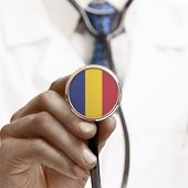 Stethoscope With National Flag Conceptual Series - Romania