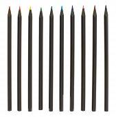 Set of multiple colorful pencils