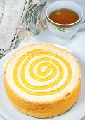 Orange Cake With Tea
