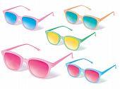 Sunglasses Vector Icon Set. Vector Illustration