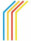 Drinking Straws. Set. Vector Illustration