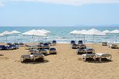 The Beach Of Luxury Hotel, Peloponnes, Greece