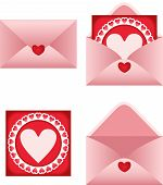 Envelope With Heart Postcard