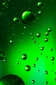 Vivid green oil and water abstract