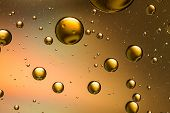 Gold oil and water abstract